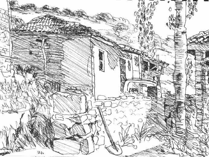 Maison turque - Dessin de chalet de montagne ...